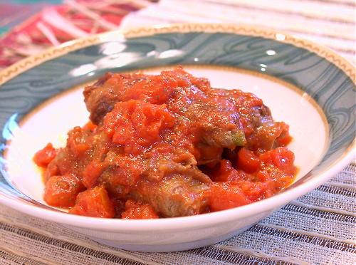 牛肉まき大根キムチのトマト煮レシピ