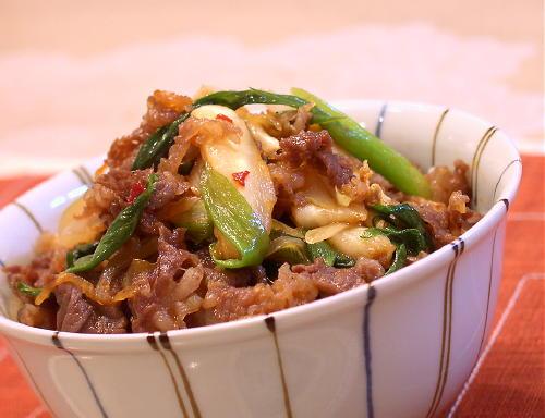 キムチ牛丼レシピ