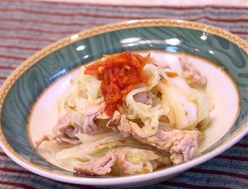 蒸し白菜レシピ