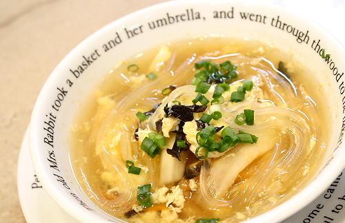 春雨のキムチスープレシピ