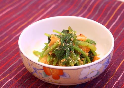 ほうれん草のキムチごま和えレシピ