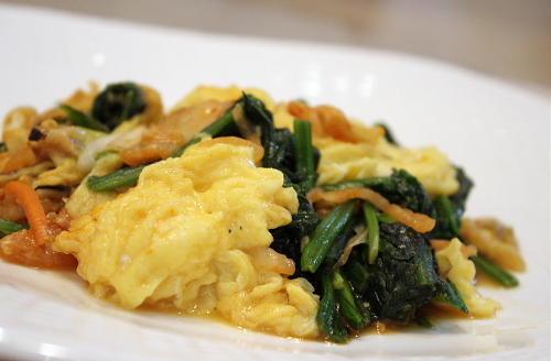 キムチと卵のオイスターソース炒め炒め