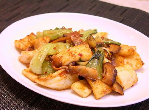 いかとキムチのケチャップ炒めレシピ