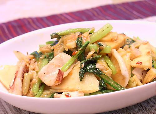 いかと竹の子のキムチ炒めレシピ