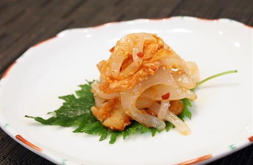 今日のキムチ料理:いかのキムチ和えレシピ