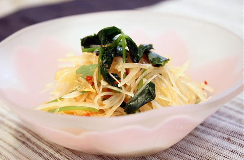 今日のキムチ料理レシピ:じゃがいもとキムチのポン酢和えレシピ