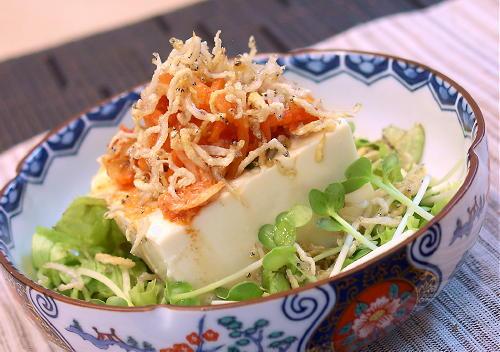じゃこキムチ豆腐