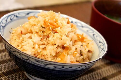 じゃこと割干しキムチの混ぜご飯レシピ