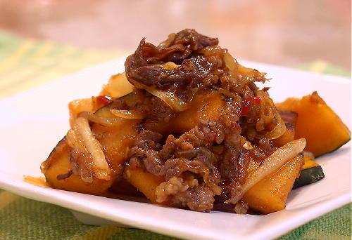 かぼちゃと牛肉のキムチ炒めレシピ