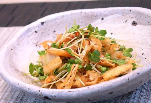 貝割れ大根のキムチ和えレシピ