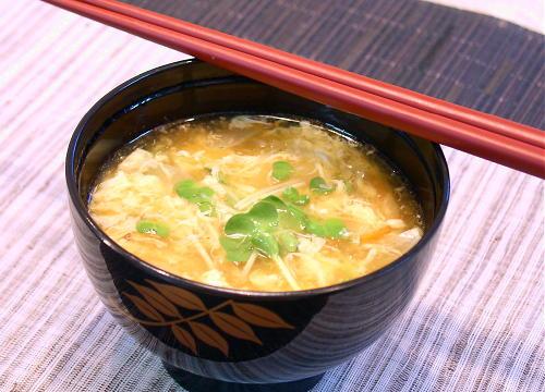 豆腐のキムチかきたま汁レシピ
