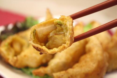 アボカドと特選カクテキの揚げ餃子