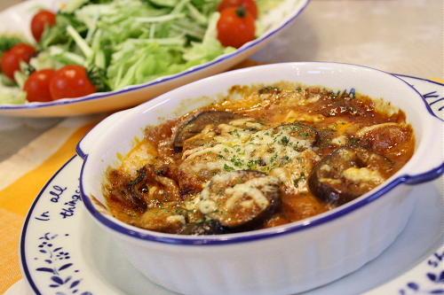 お餅とキムチのミートソースグラタンレシピ