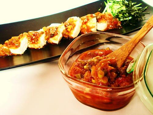 キムチだれ豆腐レシピ