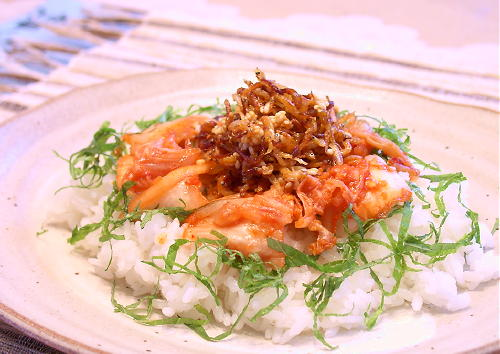 かりかりじゃこキムチご飯レシピ