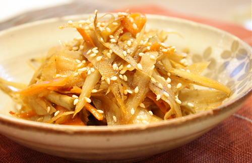 今日のキムチ料理レシピ:キムチきんぴらごぼう