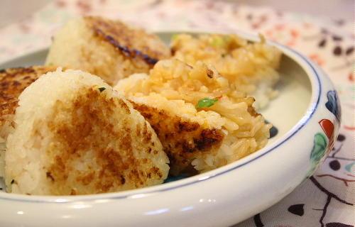 キムマヨ焼きおにぎりレシピ