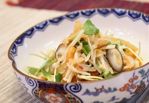今日のキムチ料理レシピ:きのことキムチのおろし和え