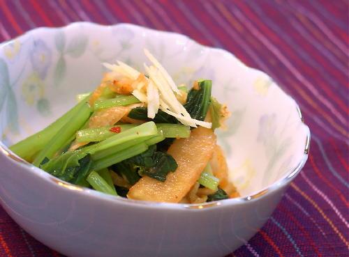 小松菜とキムチの和えもの