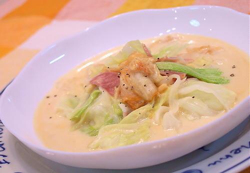 キャベツとキムチのクリーム煮レシピ