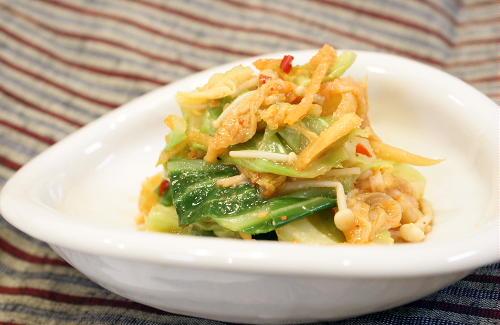今日のキムチ料理レシピ:キャベツとキムチのごま和え