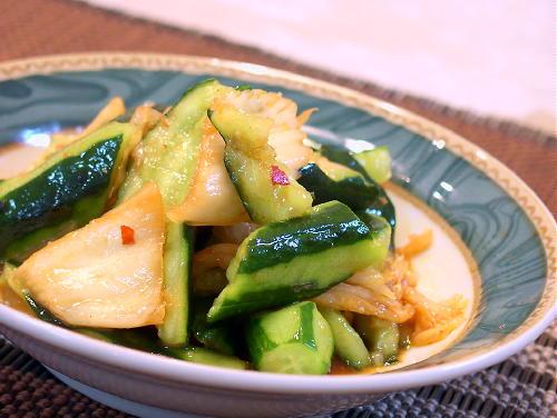 胡瓜のキムチ和えレシピ