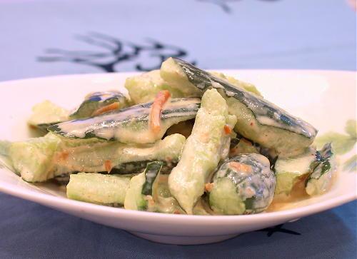 きゅうりのピリ辛味噌マヨ和えレシピ
