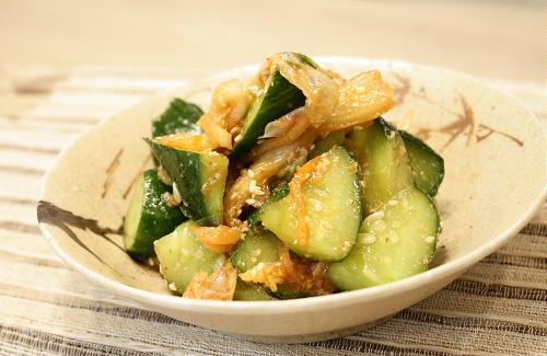 今日のキムチ料理レシピ:きゅうりとキムチの生姜味