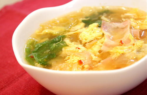 レタスとキムチのスープレシピ