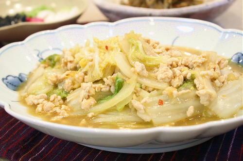 今日のキムチ料理レシピ:キムチの素 de 麻婆白菜