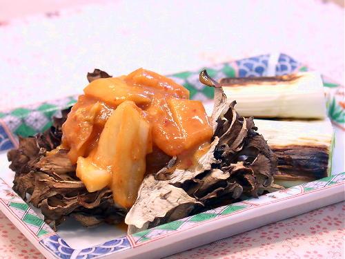 焼きまいたけのキムチ味噌レシピ