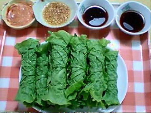 キムチのまき巻きサラダレシピ