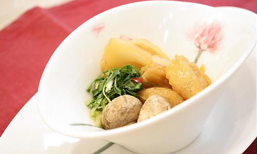 水菜と油揚げのキムチ煮レシピ