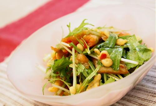 水菜のパリパリキムチ和えレシピ