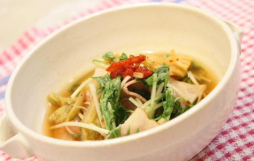 水菜とキムチのさっと煮レシピ