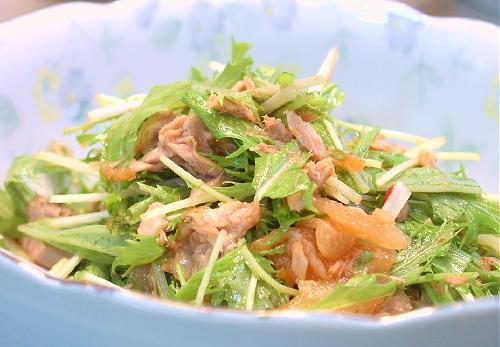 水菜とキムチのサラダレシピ