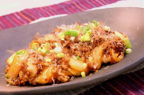 お餅の豚キムチ炒めレシピ