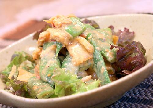 モロッコいんげんとキムチの味噌マヨネーズ和えレシピ