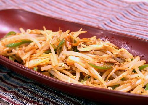 モヤシとキムチのオイスターソース炒めレシピ