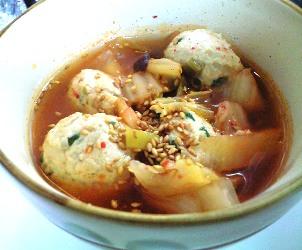もやし団子のキムチスープ煮レシピ