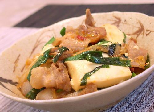 キムチ肉豆腐レシピ