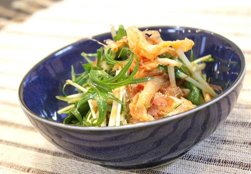 長いもと水菜のキムチサラダレシピ