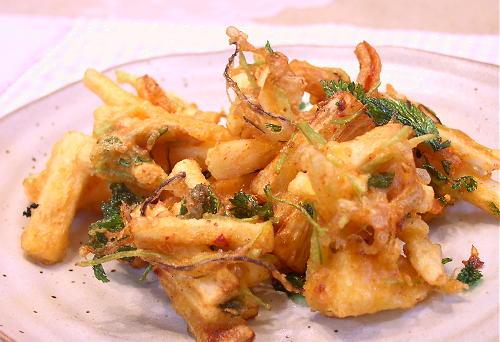長いもと割干しキムチの天ぷらレシピ