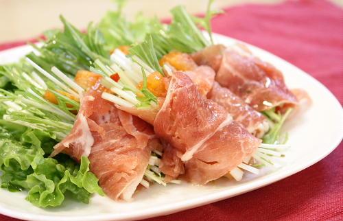 今日のキムチ料理レシピ:大根キムチの生ハム巻き
