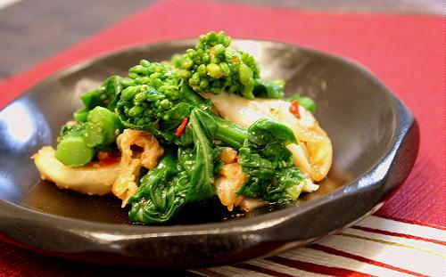 菜の花とキムチのごま和えレシピ