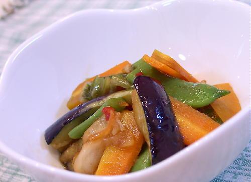 茄子とモロッコいんげんとキムチ和えレシピ