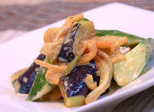 なすときゅうりとキムチの味噌マヨネーズ和えレシピ