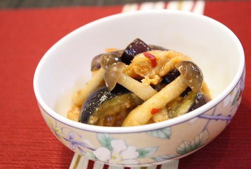 なすとキムチの味噌和えレシピ