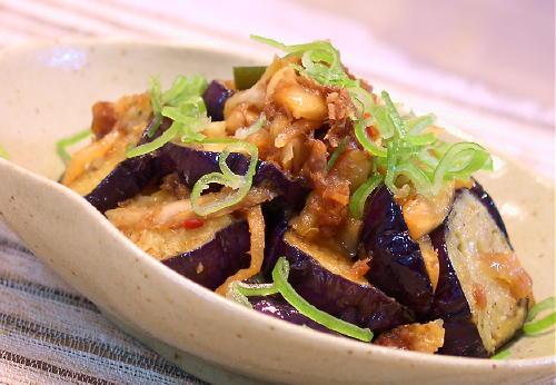茄子とキムチのおかか和えレシピ