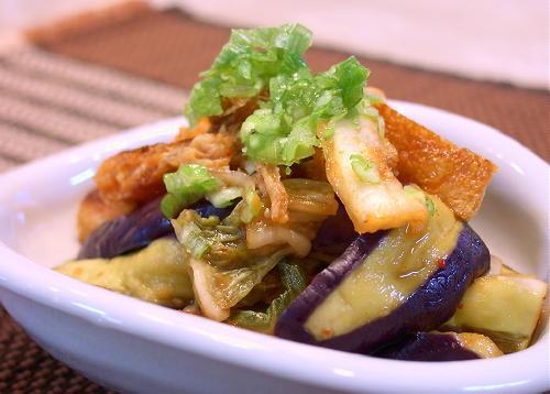 なすとキムチの生姜醤油和えレシピ